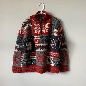 Hand knit vintage Ralph Lauren wool sweater